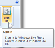 How do I upload photos to SkyDrive using Windows Live Photo Gallery? (1/6)
