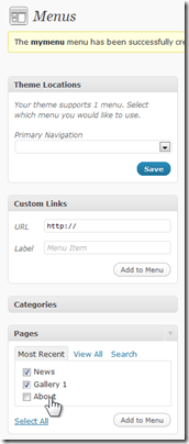 How do I install a custom menu on my WordPress blog? (2/6)