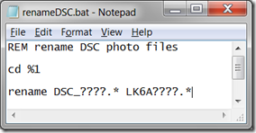 How do I replace the DSC prefix on my photo file names? (1/6)