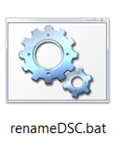 How do I replace the DSC prefix on my photo file names? (6/6)