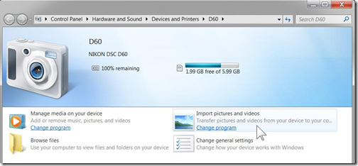 How do I import photos from my camera to my Windows 7 computer? (3/6)