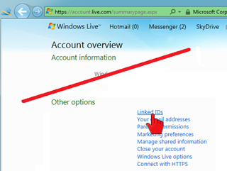 How do I link multiple Windows Live accounts? (2/6)