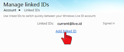 How do I link multiple Windows Live accounts? (3/6)