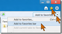adding a website to Favorites bar