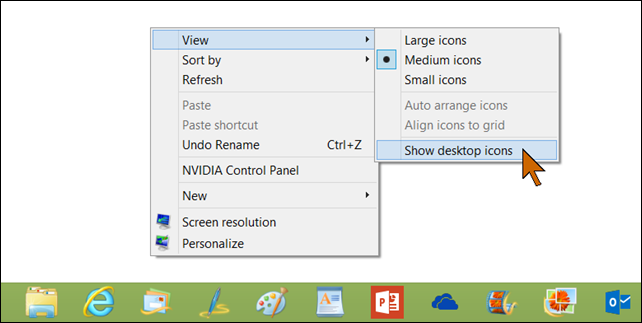 how to get my desktop back